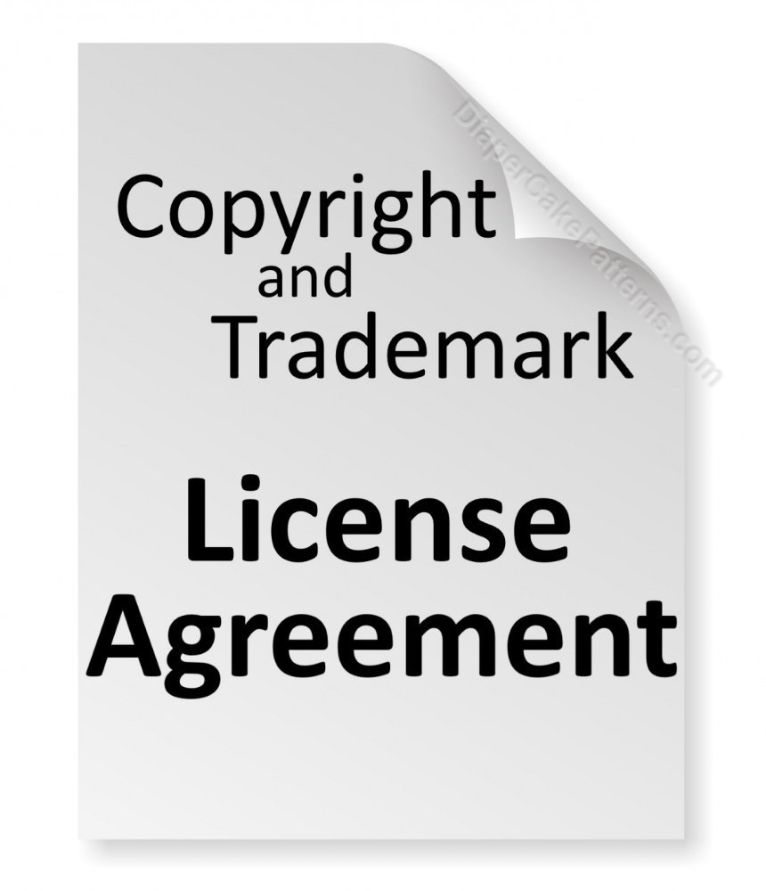 Copyright Trademark License Agreement Diaper Cake Patterns Videos