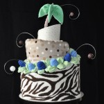 How to Make you own Jungle Themed Diaper Cake - Topsy Turvy Design
