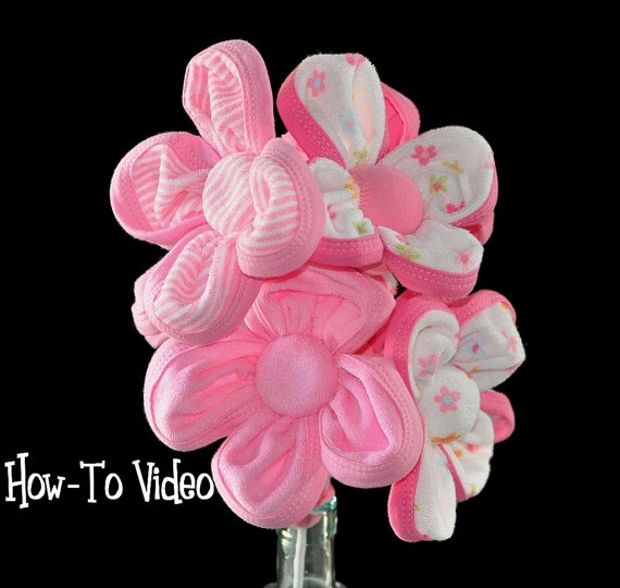 How to Make a Washcloth Flower Bouquet Video Instructions