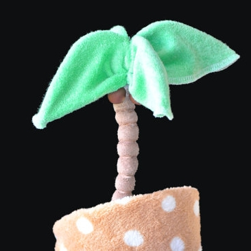 Washcloth-Palm-Tree