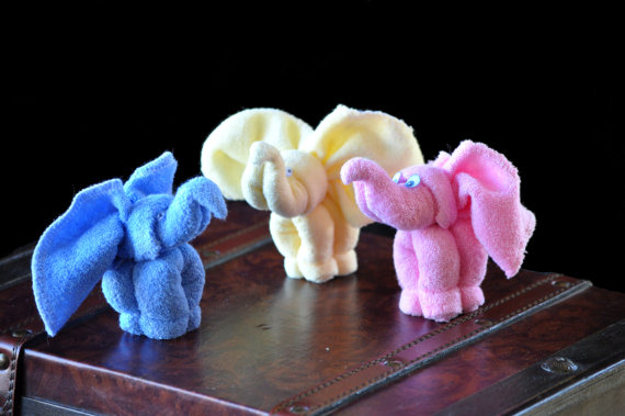 Washcloth-favor-elephant