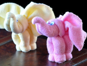 How to make a Washcloth Elephant