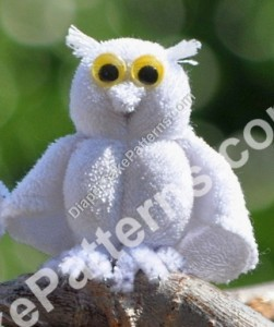 How to make a Washcloth Owl