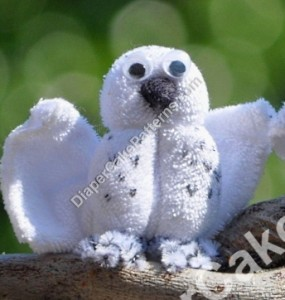 Washcloth Owl