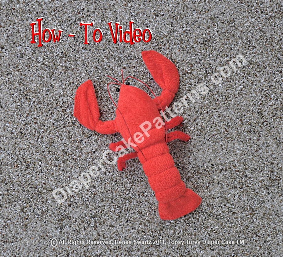 Washcloth Lobster Video Instructions