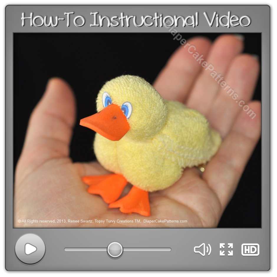 How to Make a Washcloth Duck Instructions