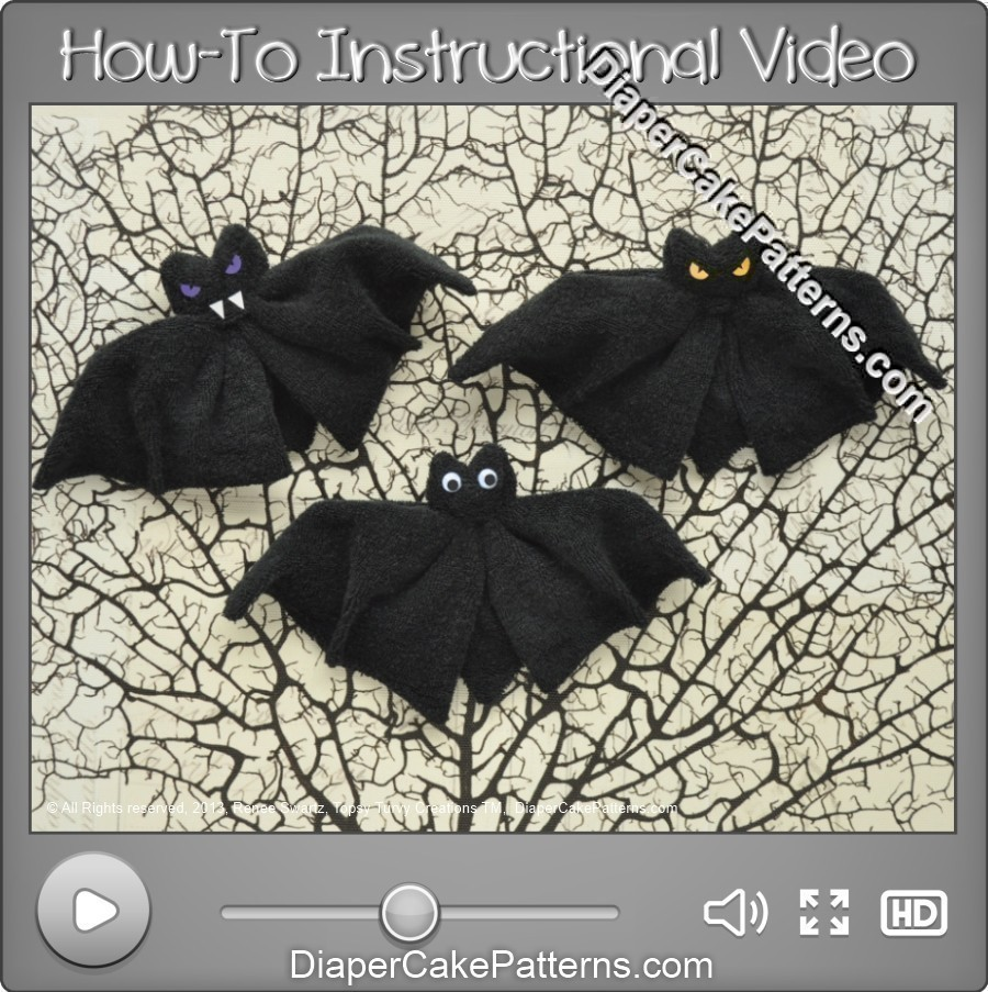 Washcloth Bat Halloween Craft Decoration