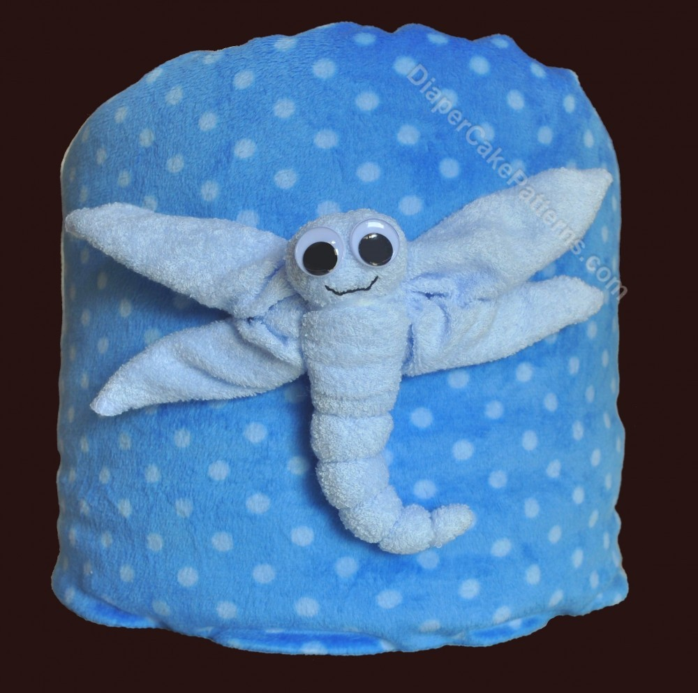 Celebrate springtime with baby washcloth dragonflies