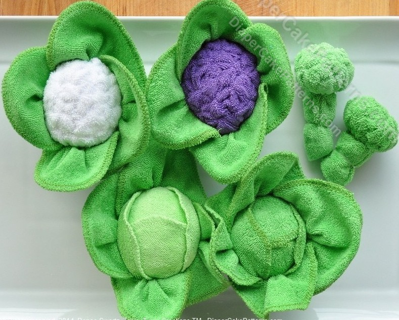 how to make washcloth vegetables instructional video