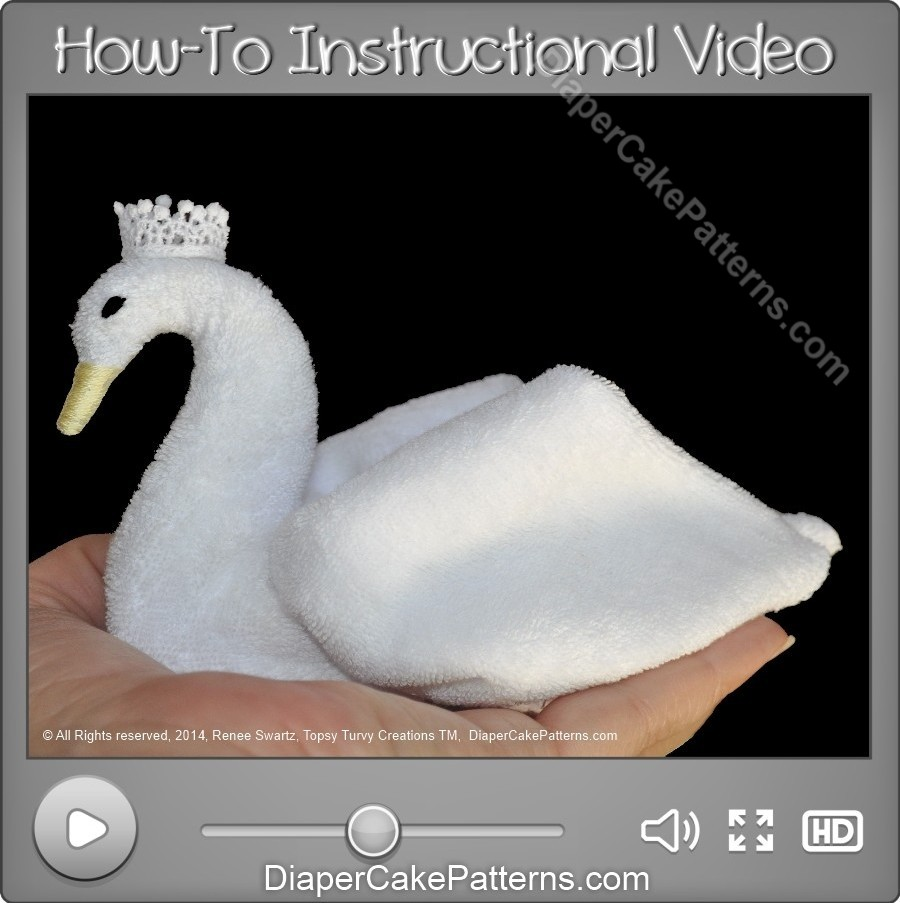 How to Make a Washcloth Swan Video Tutorial
