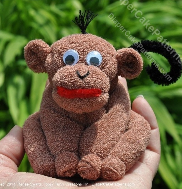 baby washcloth monkey
