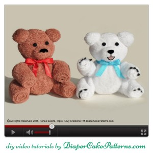 How to Make a Washcloth Teddy Bear & Polar Bear