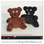 Washcloth Black Bear and Brown Teddy Bear
