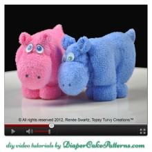 How to Make a Washcloth Hippo Video Tutorial DIY