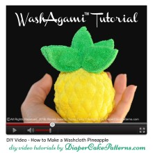 How to make a washcloth pineapple