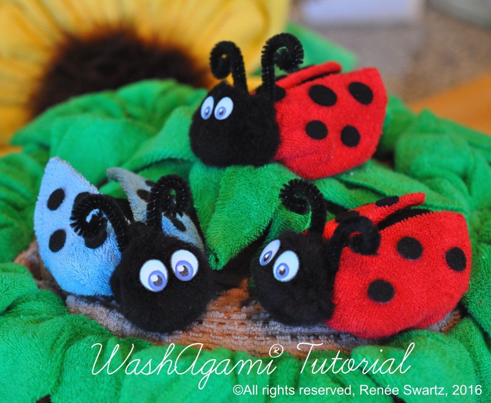 how to make washcloth animals instructions
