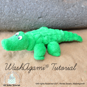 How to Make a Washcloth Alligator Tutorial Video