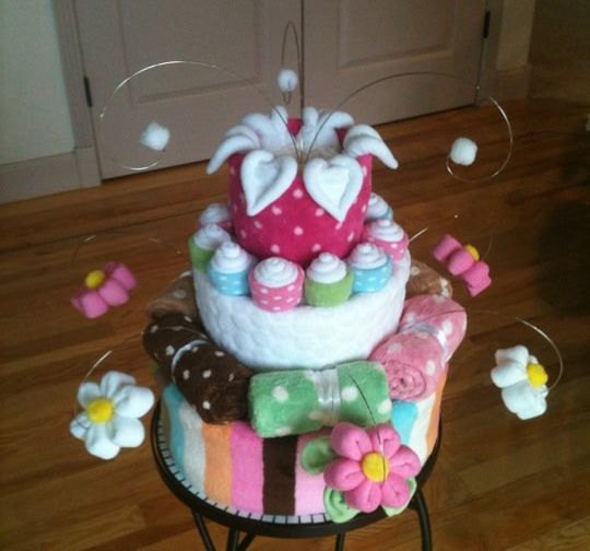 square diaper cake instructions