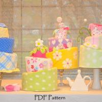 Square Topsy Turvy Diaper Cake Pattern and by TopsyTurvyDiaperCake