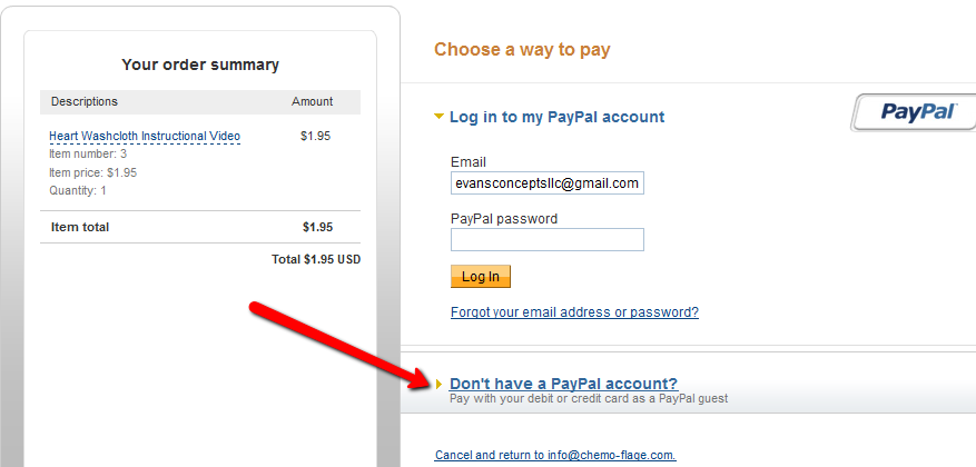 How to pay with a credit card using Paypal