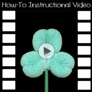Free Washcloth Shamrock Clover Video Tutorial