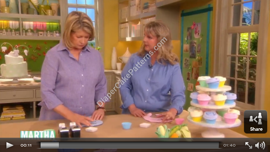 Bib Cupcake Baby Shower Favor   Martha Stewart TV
