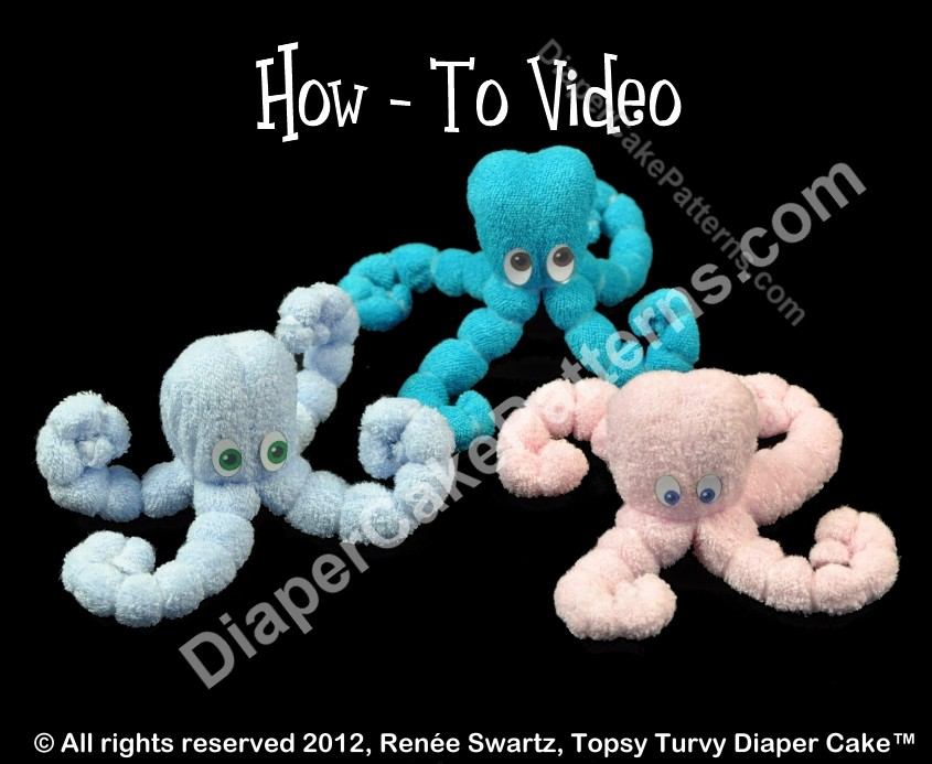 Washcloth Octopus Ocean Themed Baby Shower Favor