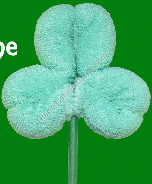 Free shamrock washcloth instructional video