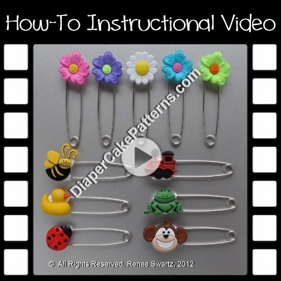 How to Make Custom Diaper Pins Video Instructions