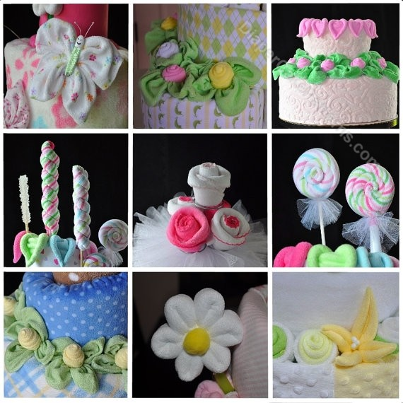 Baby Washcloth Favor instructions