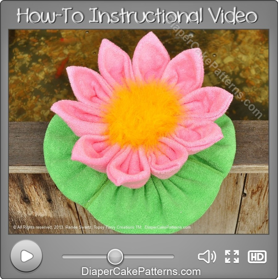 Washcloth water lily how to video instructions diaper cake washcloth water lily how to video instructions diaper cake patterns videos izmirmasajfo Gallery