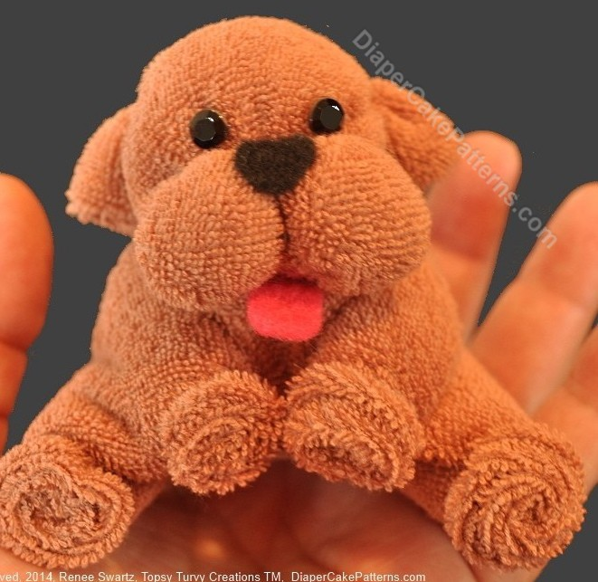learn how to make washcloth puppies