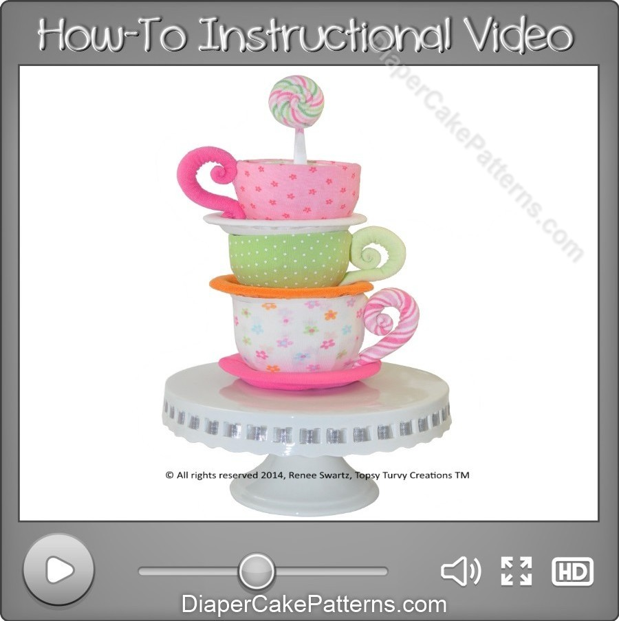 How-to-Make-a-Beanie-Cap-Washcloth-Teacups-Video-Instructions