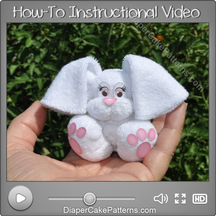 How To Make a Washcloth Bunny DIY video Tutorial