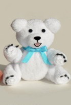 Learn how to make a baby washcloth bear