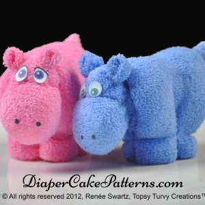 How to make a washcloth hippo tutorial video