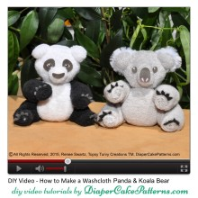 How to Make a Washcloth Panda Bear and Koala Bear