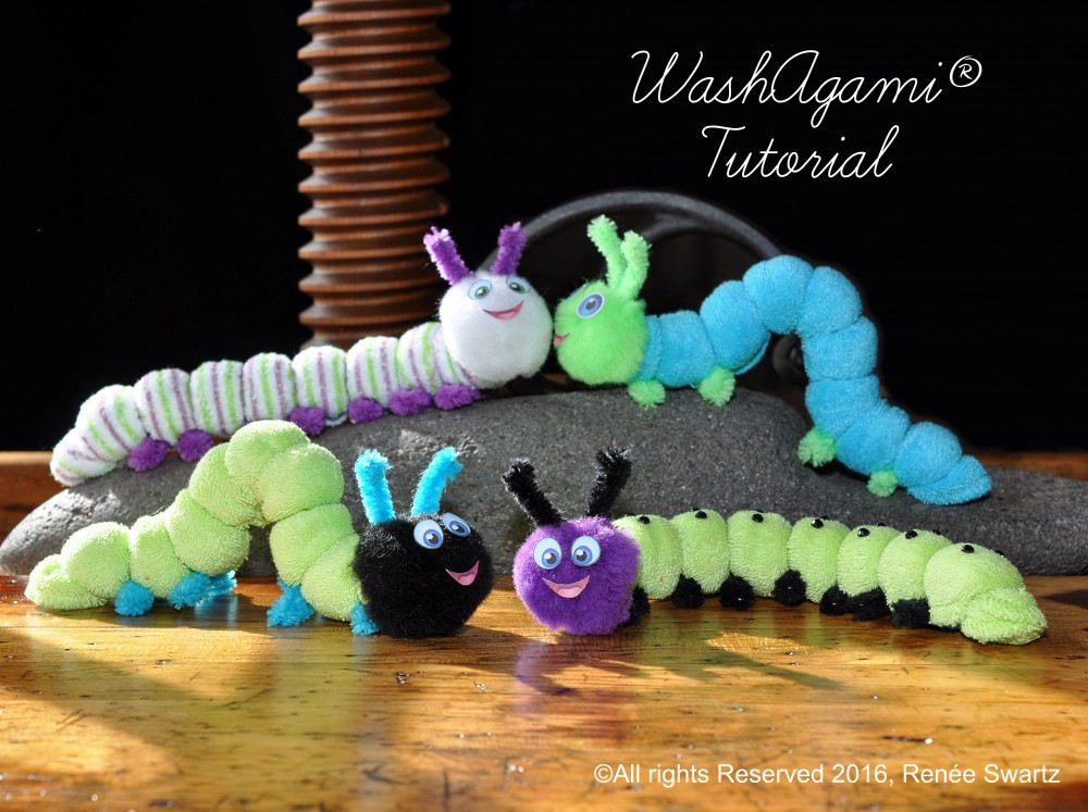 How To Make Washcloth Caterpillars Instructional Video Diaper Cake