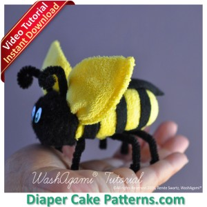 how to make a washcloth bee video tutorial
