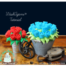 How to Make Washcloth Roses Video Tutorial